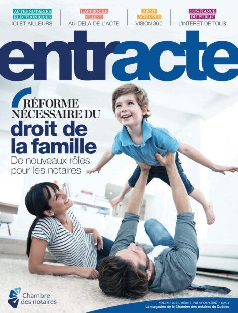 """Couverture du magazine """"Réforme nécessaire du droit de la famille : De nouveaux rôles pour les notaires"""""""