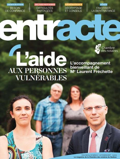 """Magazine cover of """"L'aide aux personnes vulnérables"""""""