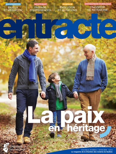 "Magazine cover of ""La paix en héritage"""