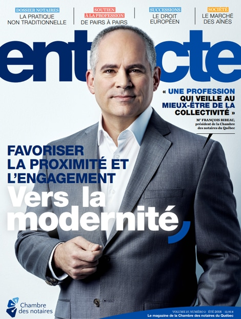 "Magazine cover of ""Favoriser la proximité et l'engagement"""