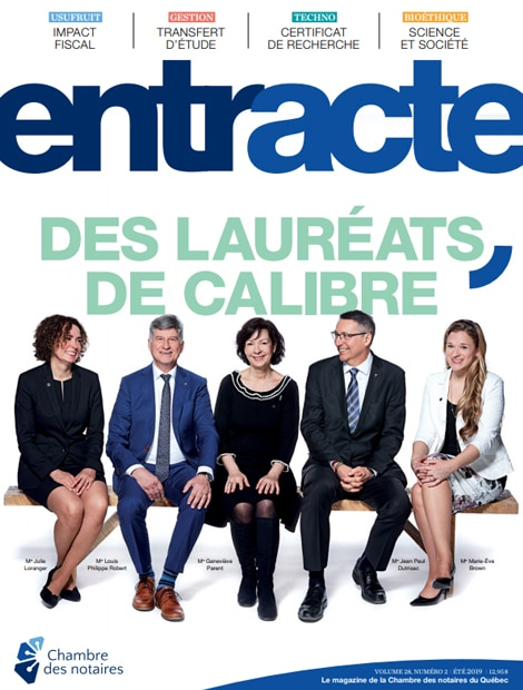 "Magazine cover of ""Des lauréats de calibre"""