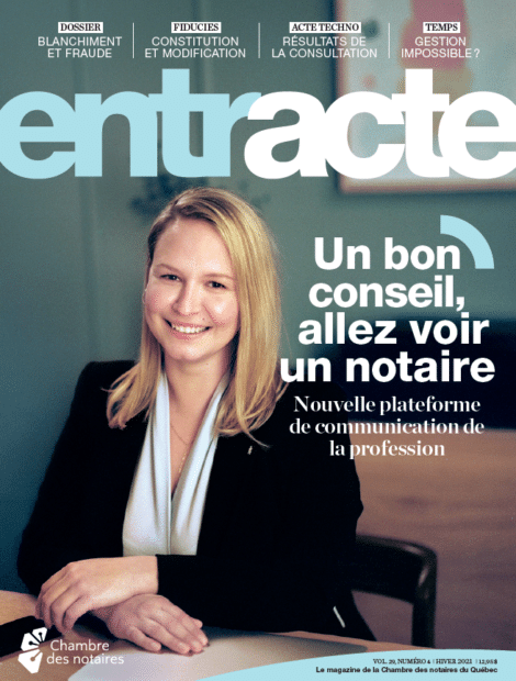 """Magazine cover of """"Un bon conseil, allez voir un notaire"""""""
