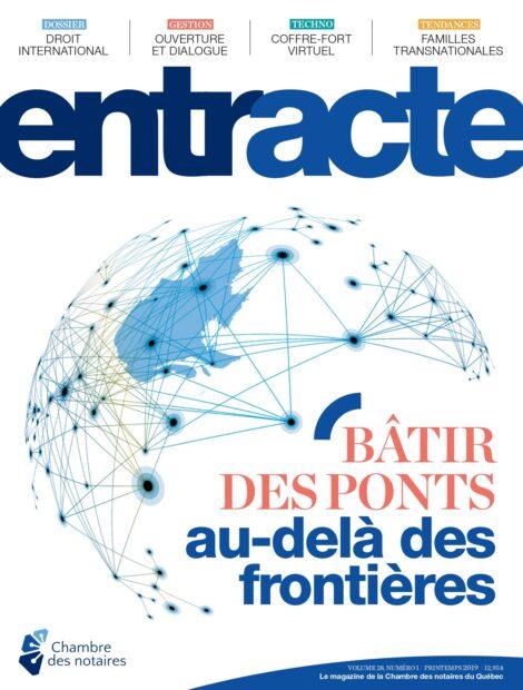 """Couverture du magazine """"Bâtir des ponts au-delà des frontières"""""""