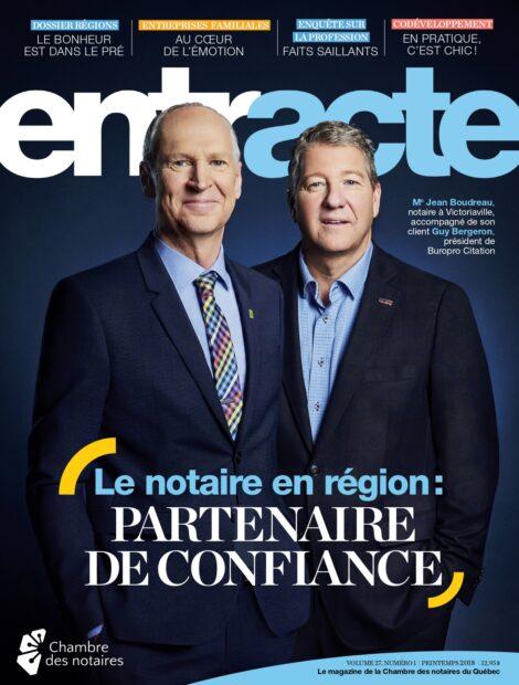 """Couverture du magazine """"Le notaire en région : partenaire de confiance"""""""