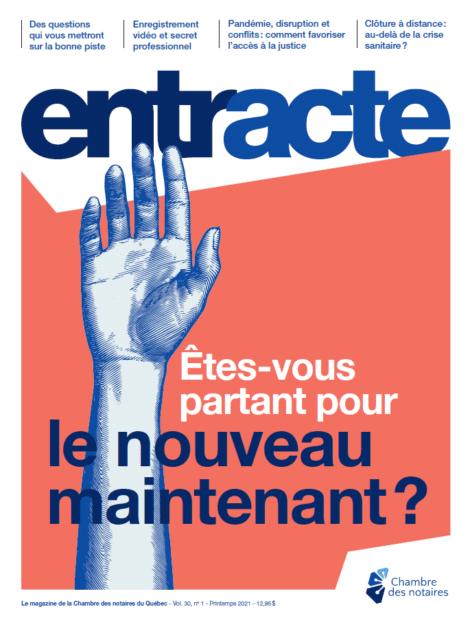 """Magazine cover of """"Êtes-vous partant pour le nouveau maintenant?"""""""